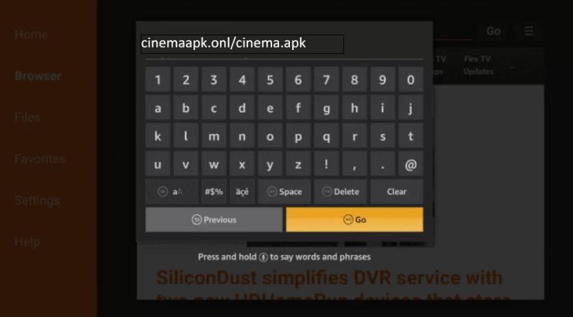 Install Cinema HD on Firestick